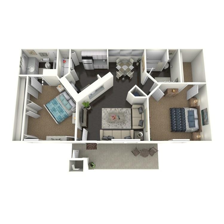 Floor plan image of B1R