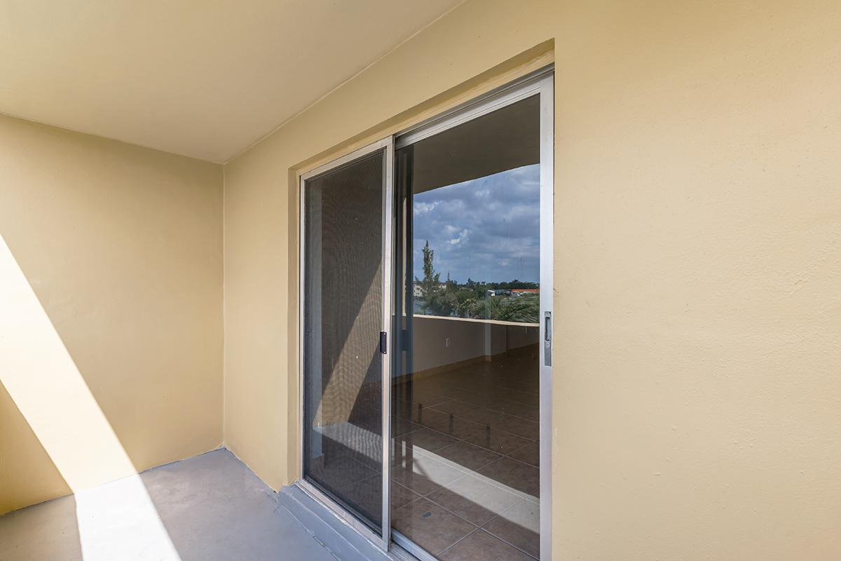 a view of a large window