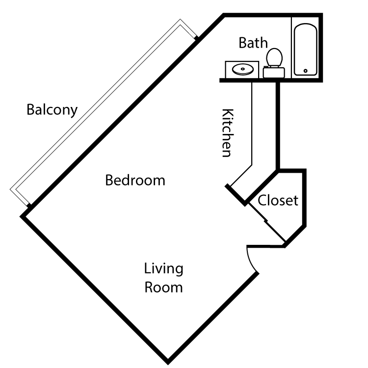 Floor plan image of Plan 1G Studio