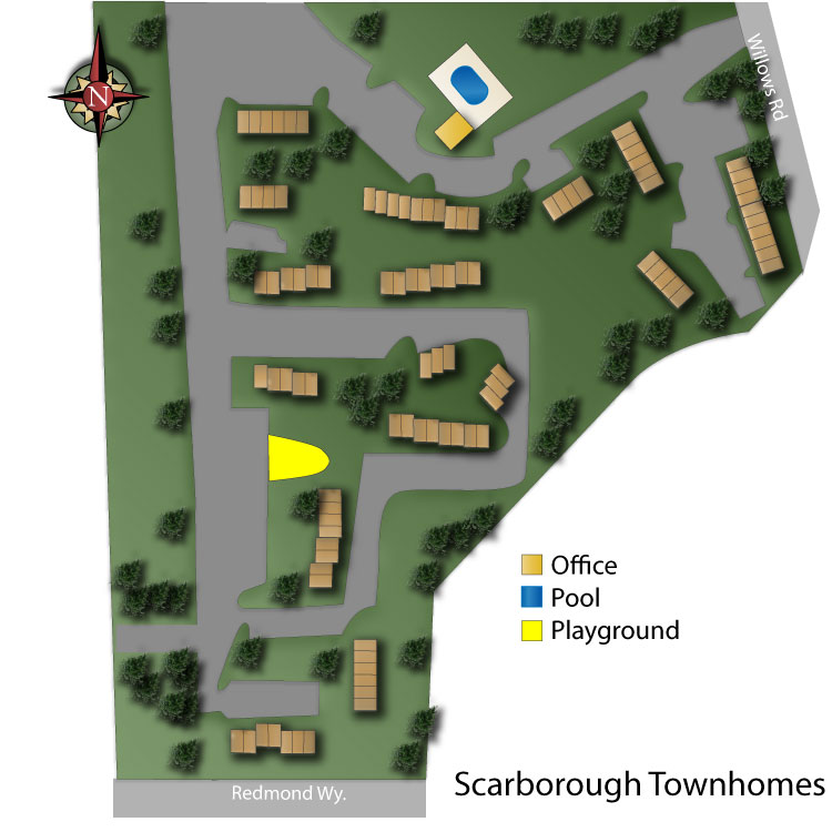 Scarborough Townhomes Site Map
