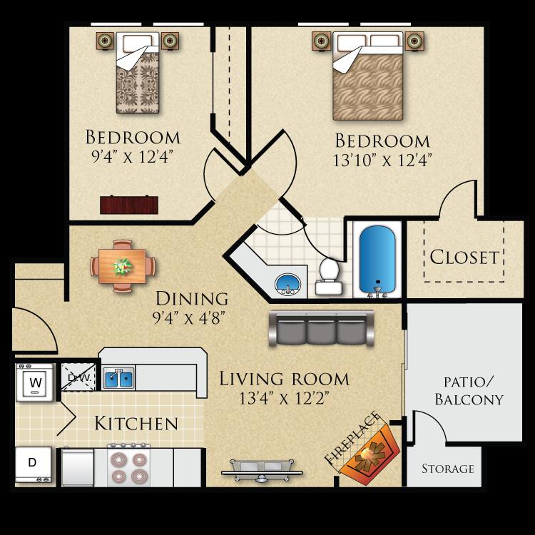 Floor plan image of B