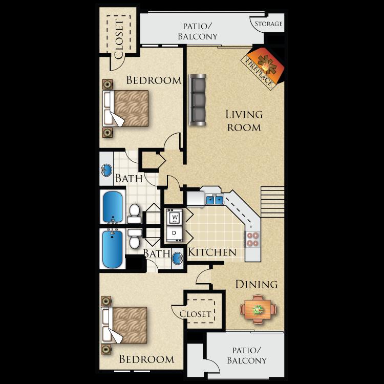 Floor plan image of B-3