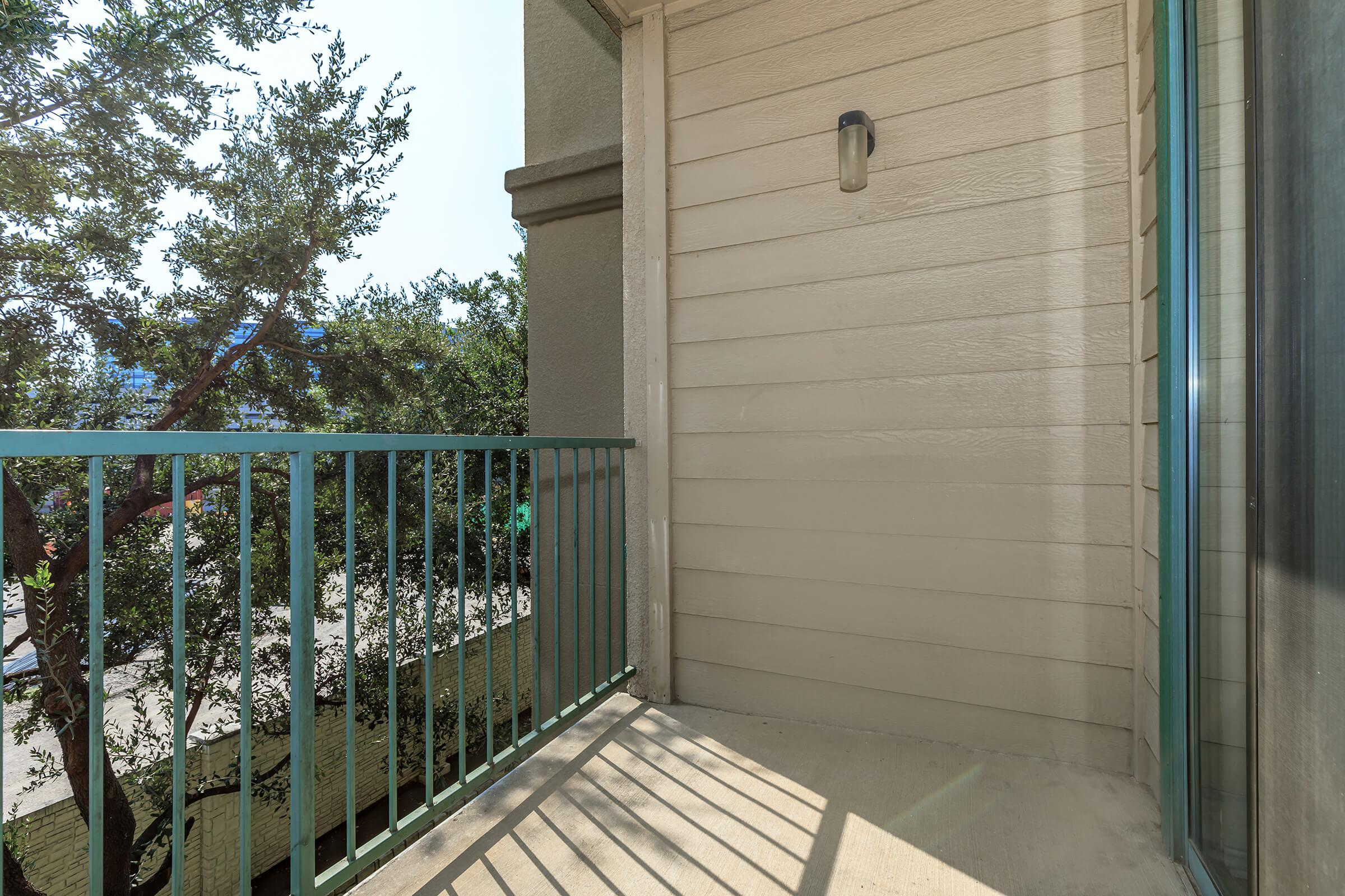 a gate in front of a door