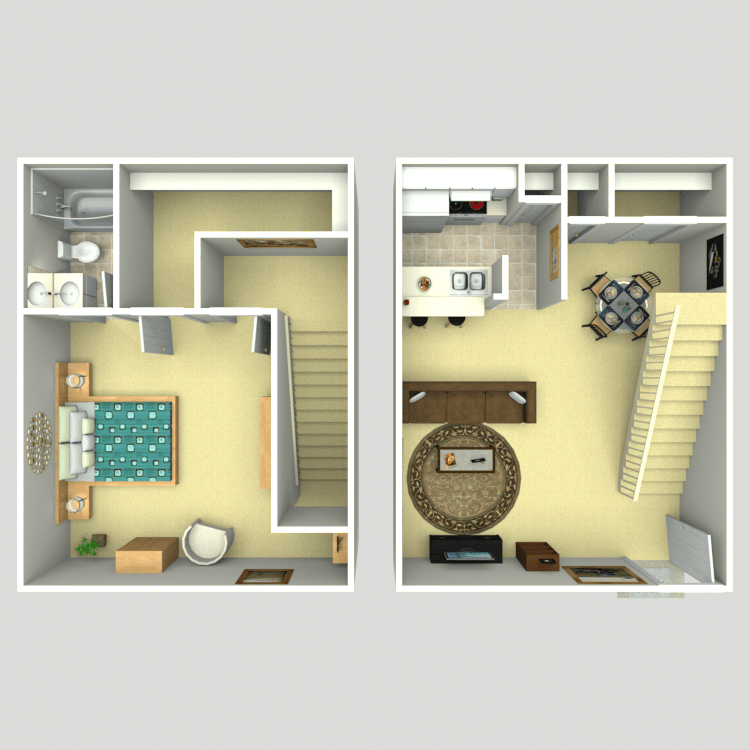 Floor plan image of Townhome/Loft