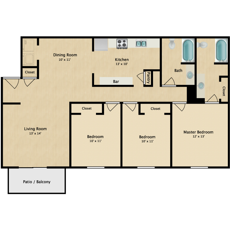 Floor plan image of The Tidewater