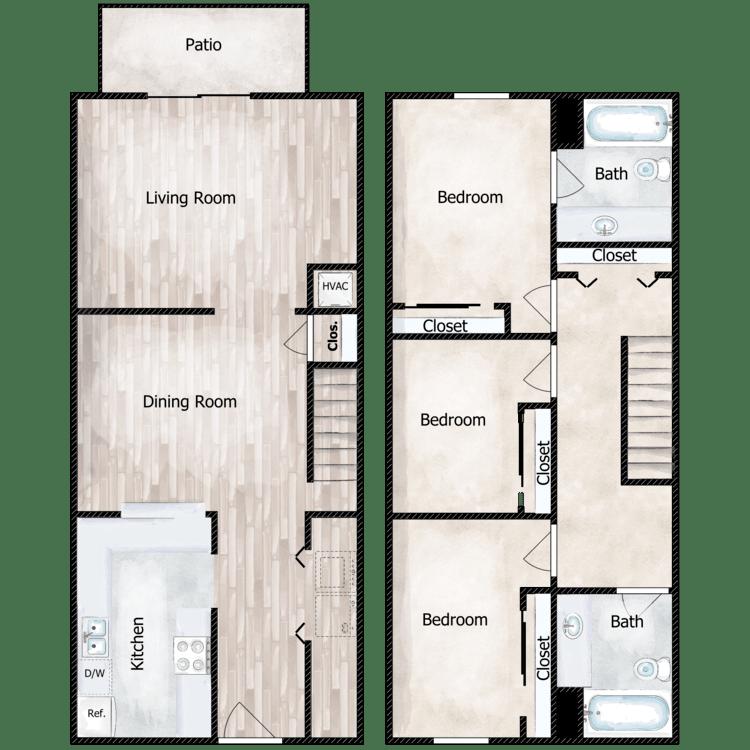 Floor plan image of The Hamilton