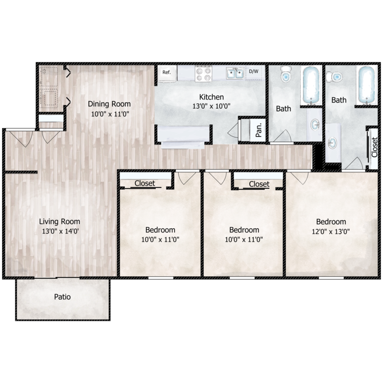 The Tidewater floor plan image