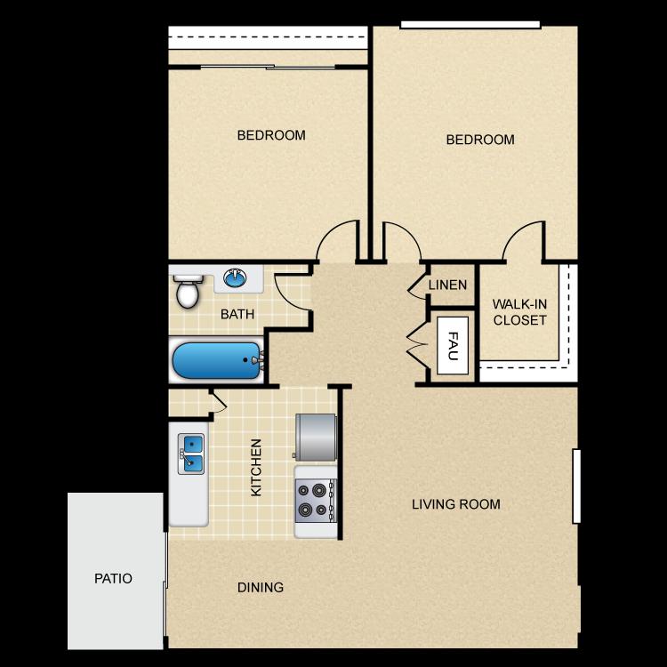 Castilian B floor plan image