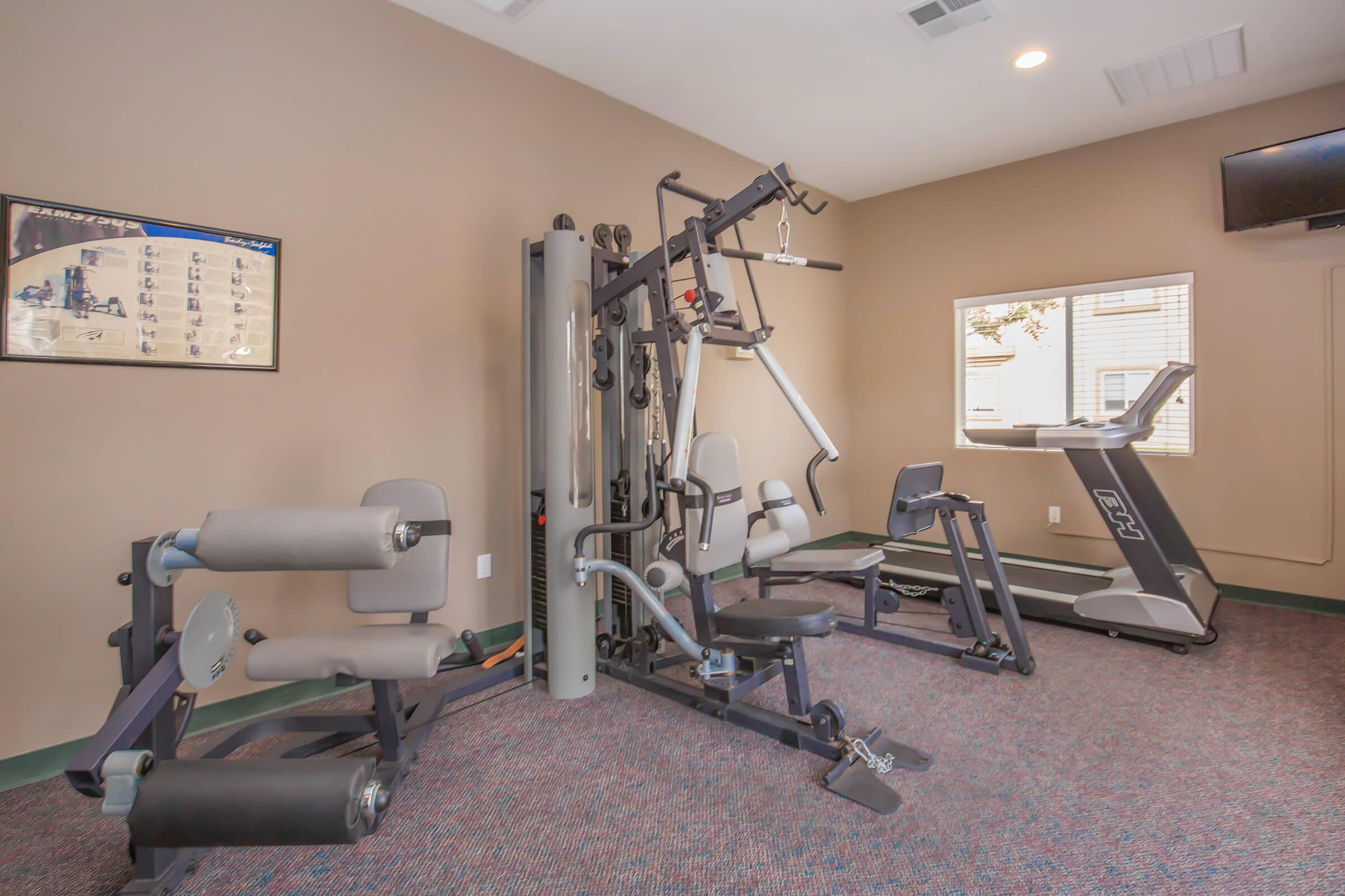 Work-out equipment in the community gym