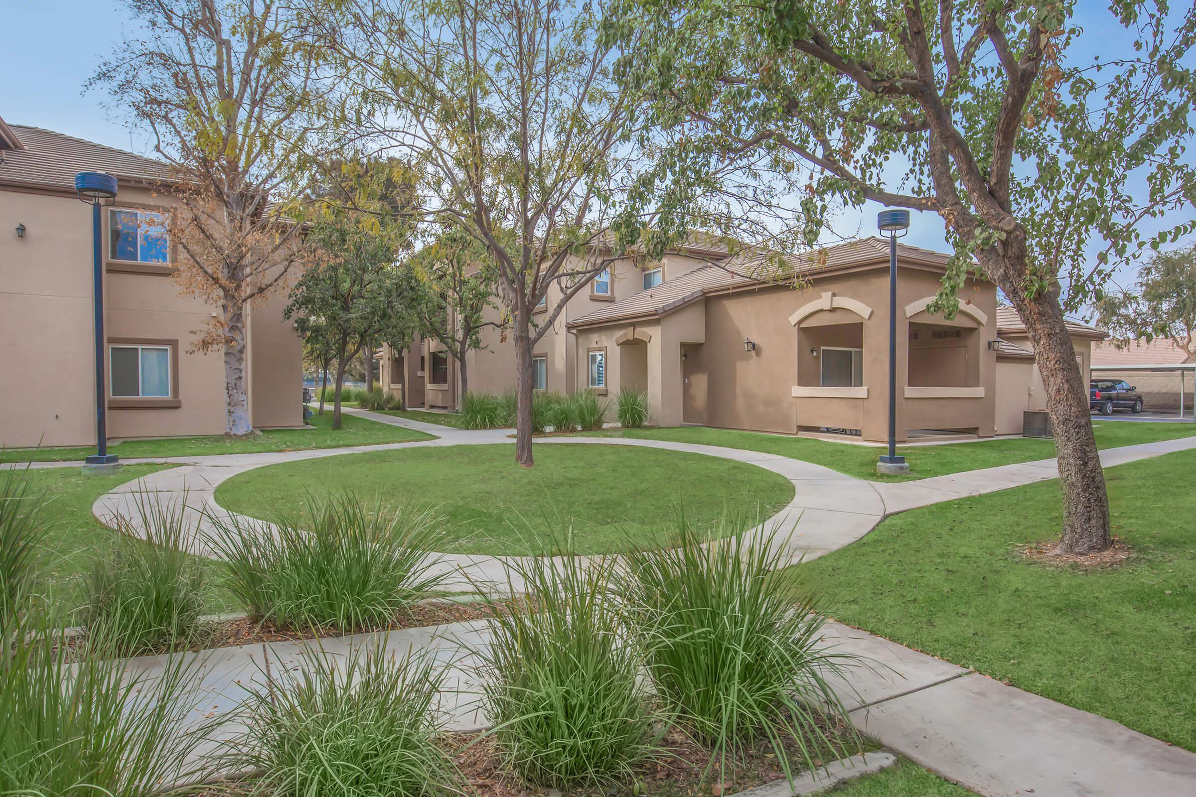 Breakwater Apartments courtyard with green landscaping