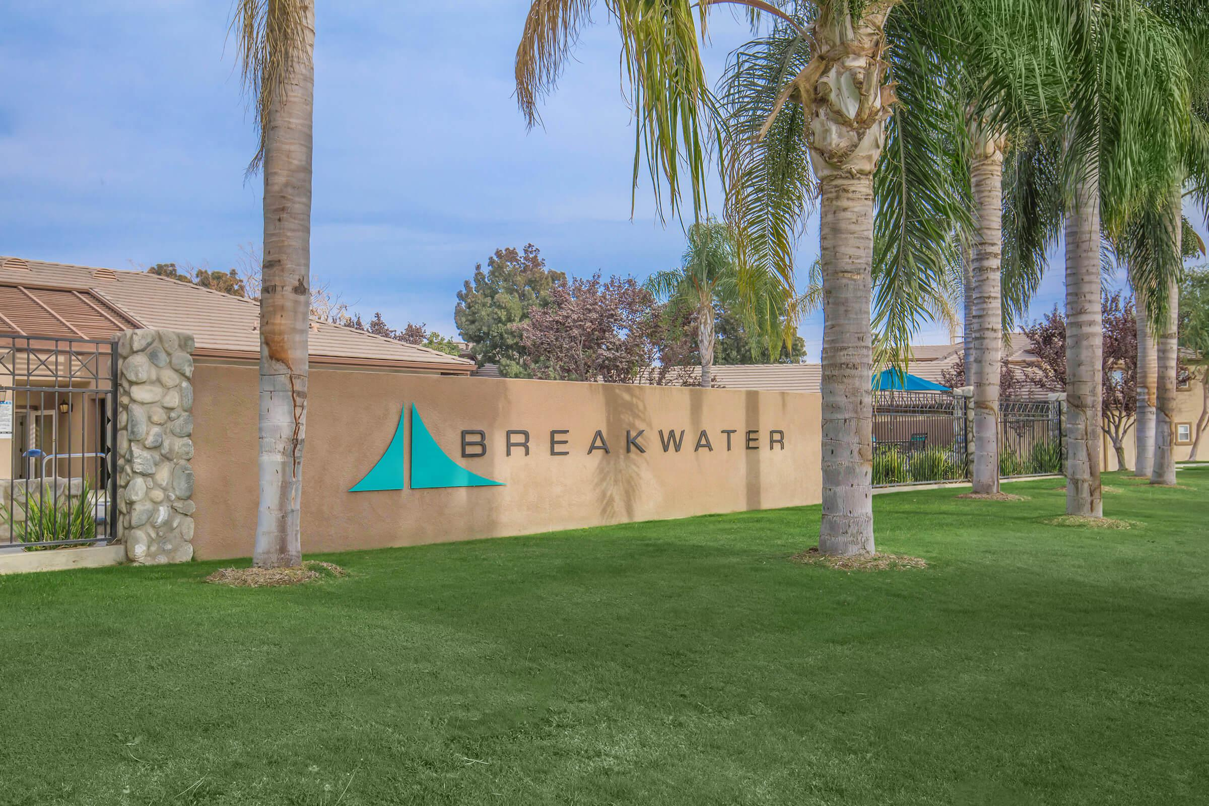 Breakwater Apartments monument sign