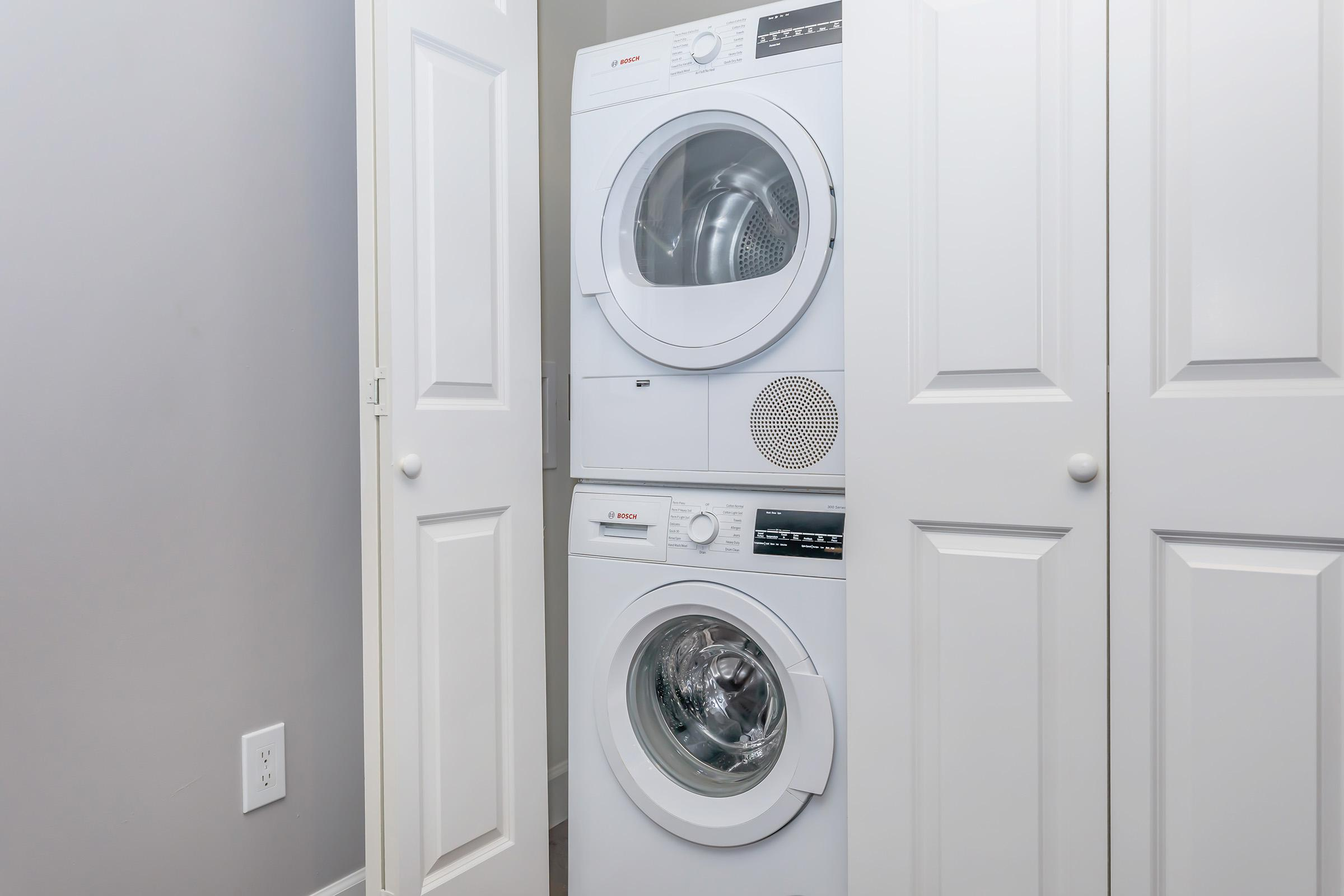 a washer and a mirror