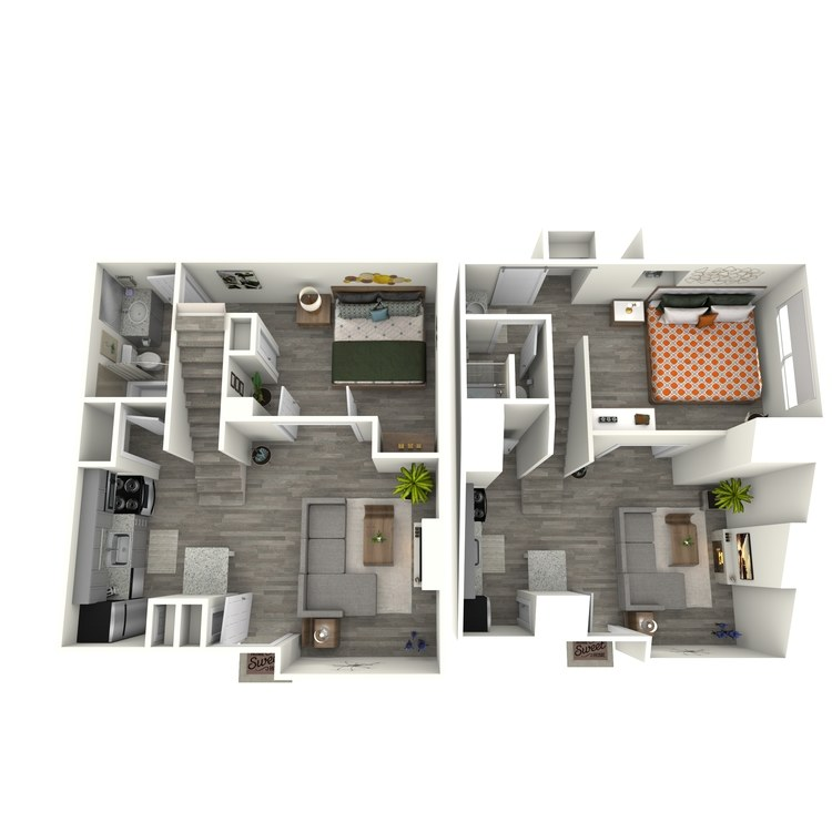 Floor plan image of B2R Bedroom/Loft