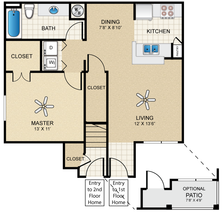 Floor plan image of Casita One Bedroom/One Bath