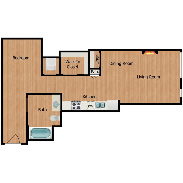 Floor plan image of Studio C