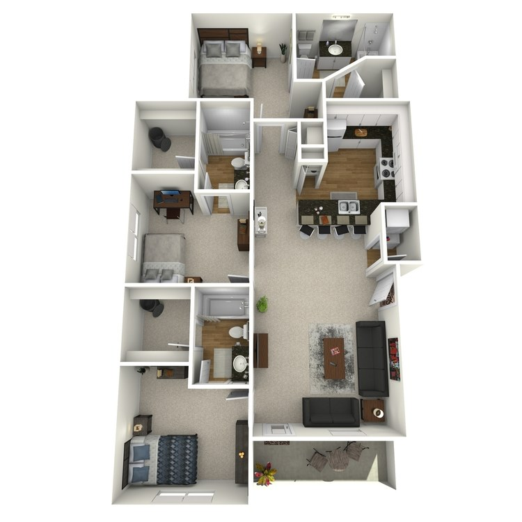 Floor plan image of The Varsity (Rate Per Bed)