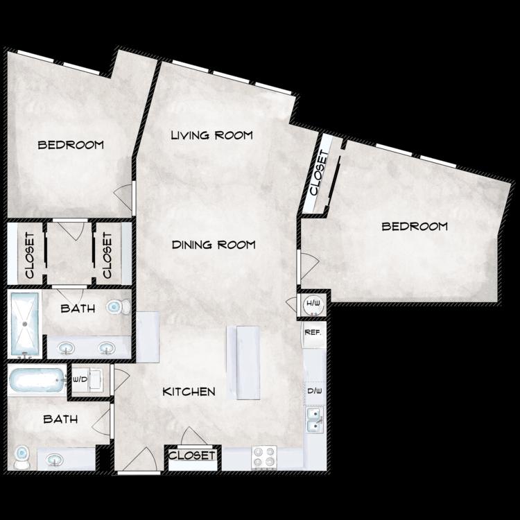 Floor plan image of B2E
