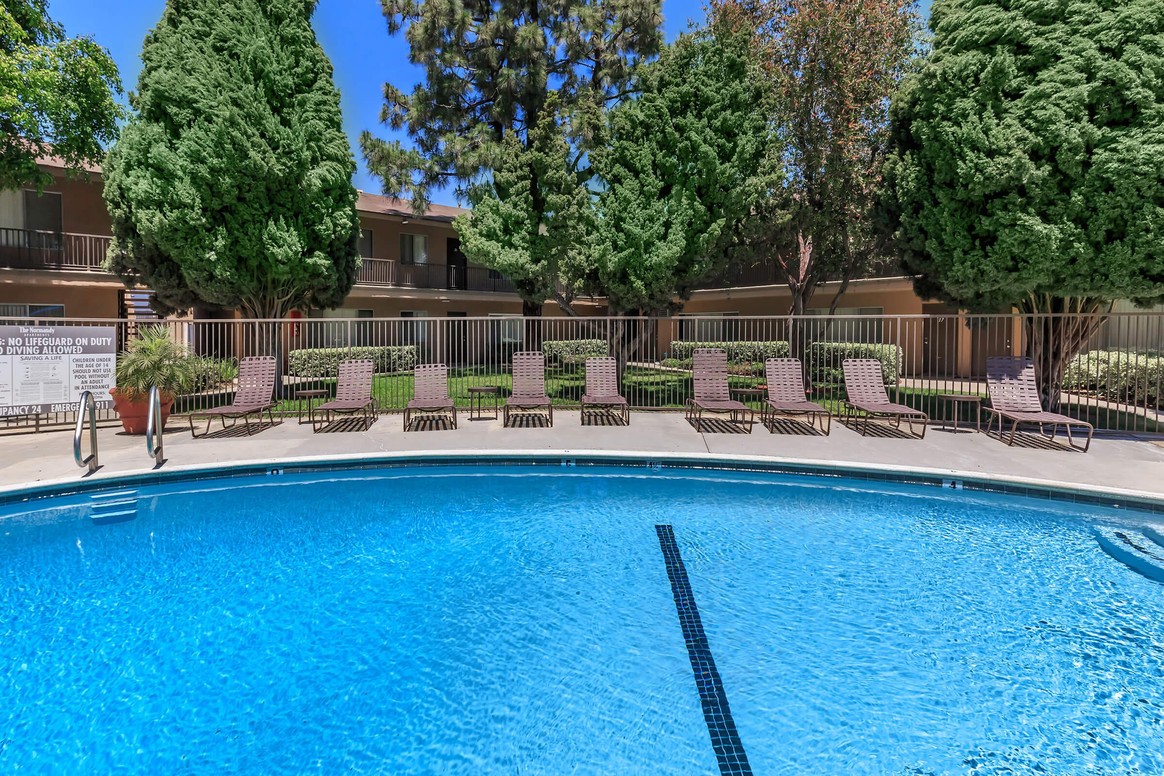 The Normandy Apartment Homes community pool