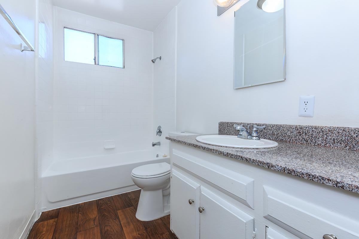 Bathroom with wooden floors