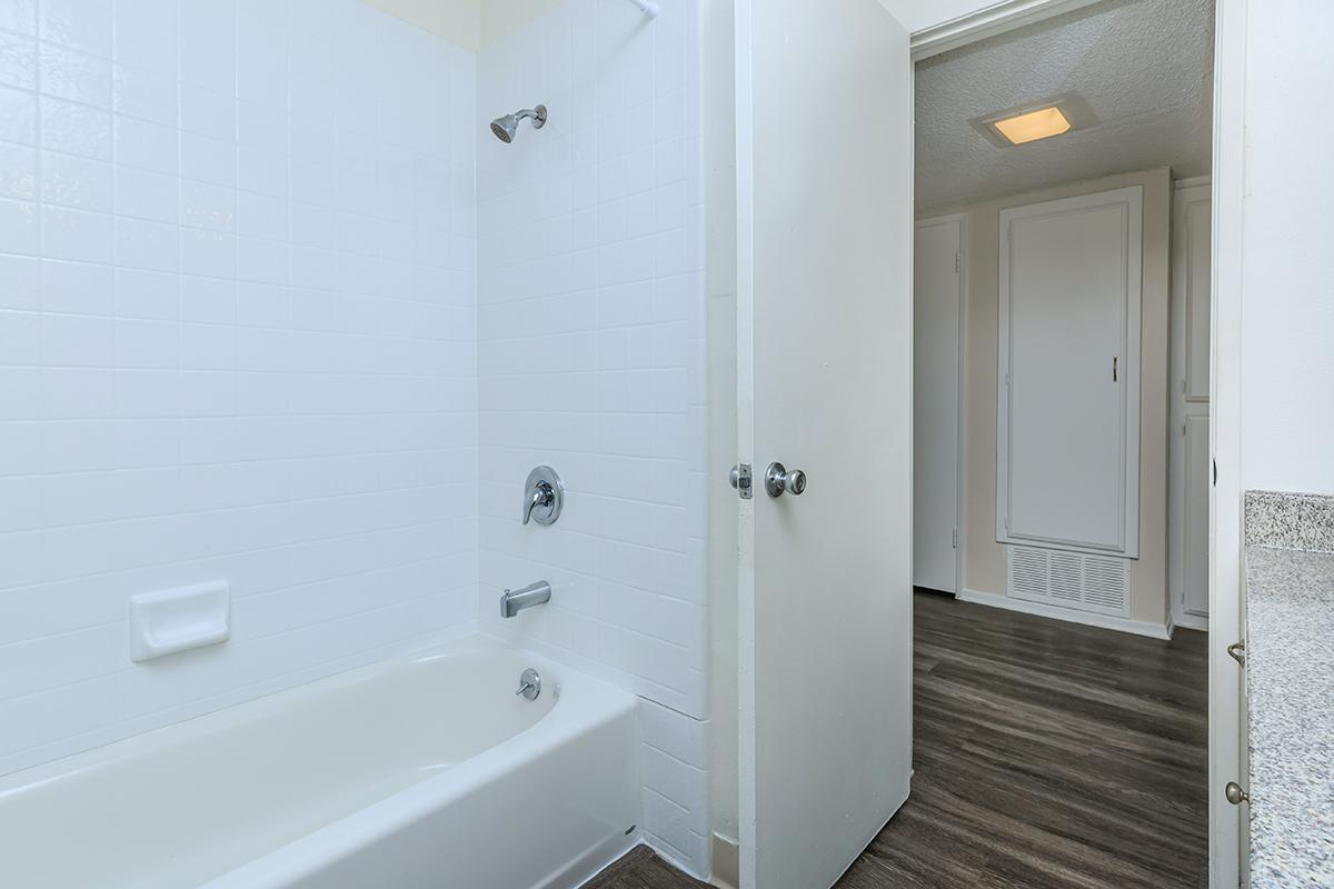 Shower with wooden floors