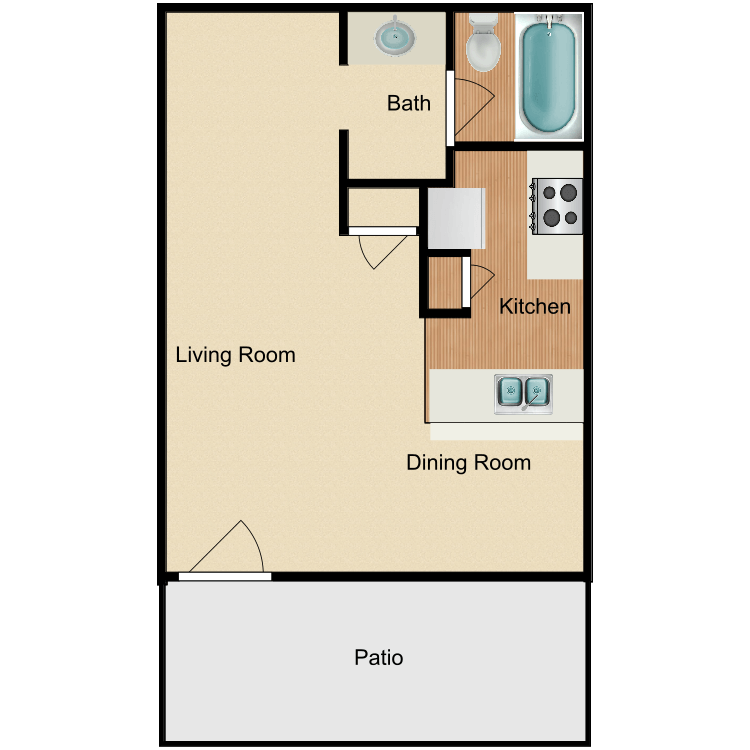 Floor plan image of The Oaks