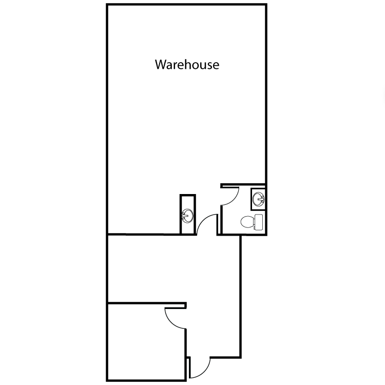 Floor plan image of Office/Warehouse Plan B