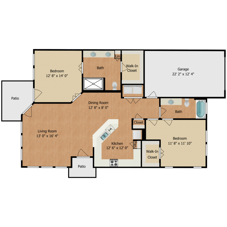 Floor plan image of Cottage B1