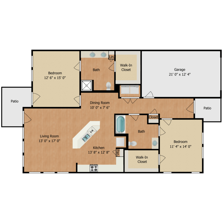 Floor plan image of Cottage B2