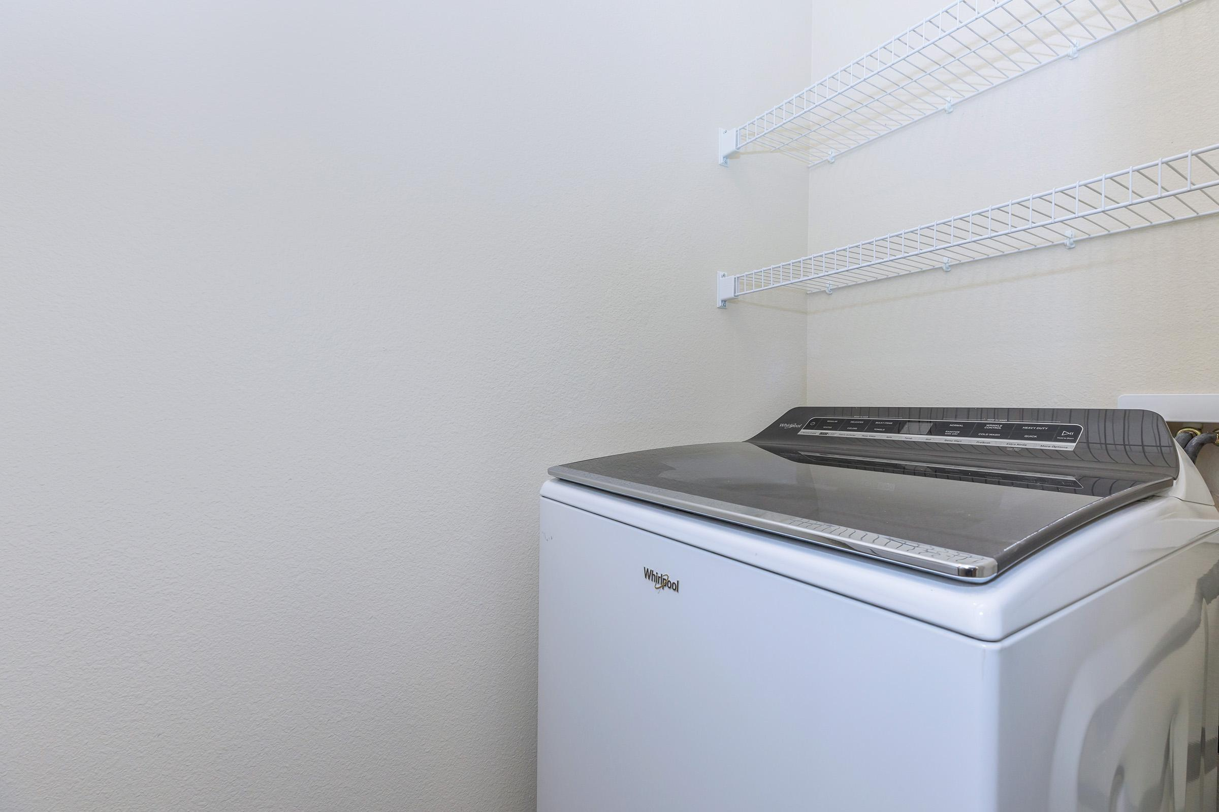 FULL-SIZE WASHER AND DRYER IN APARTMENT HOMES