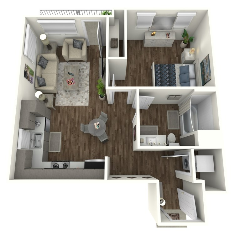 Floor plan image of A1 1 Bed 1 Bath