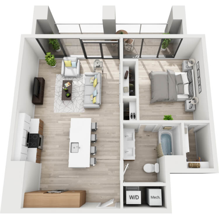 Floor plan image of 6T-South View