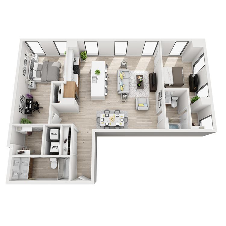 Floor plan image of 1-Northwest View