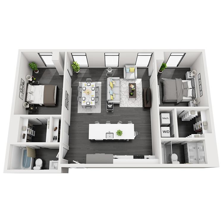Floor plan image of 2-North View