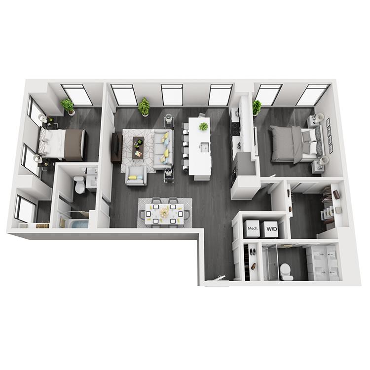 Floor plan image of 4-Northeast View