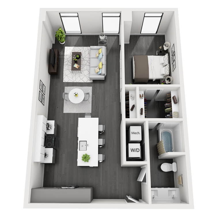 Floor plan image of 6-South View