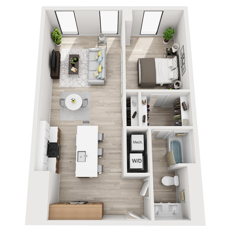 Floor plan image of 8-South View