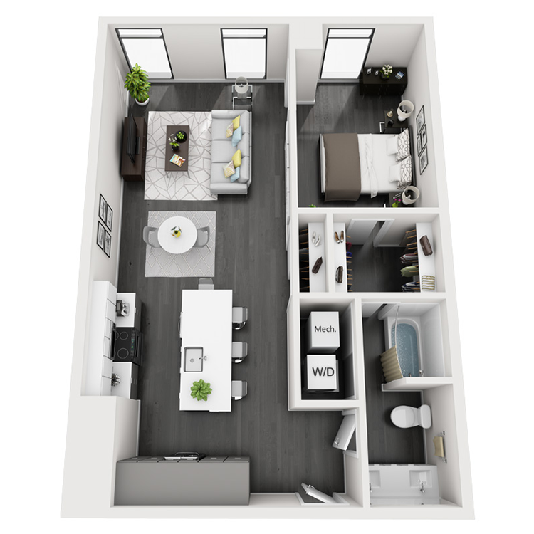 Floor plan image of 7-South View
