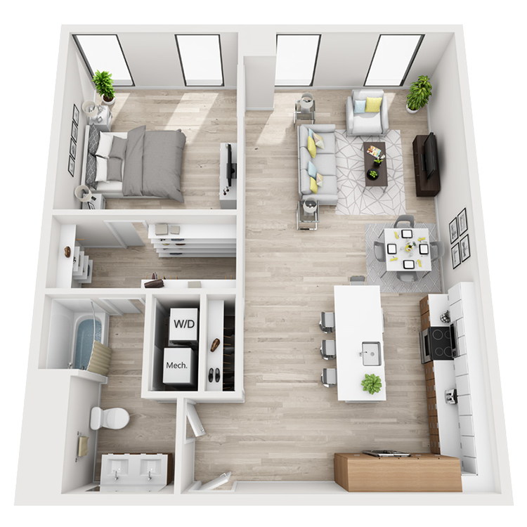 Floor plan image of 9-South View