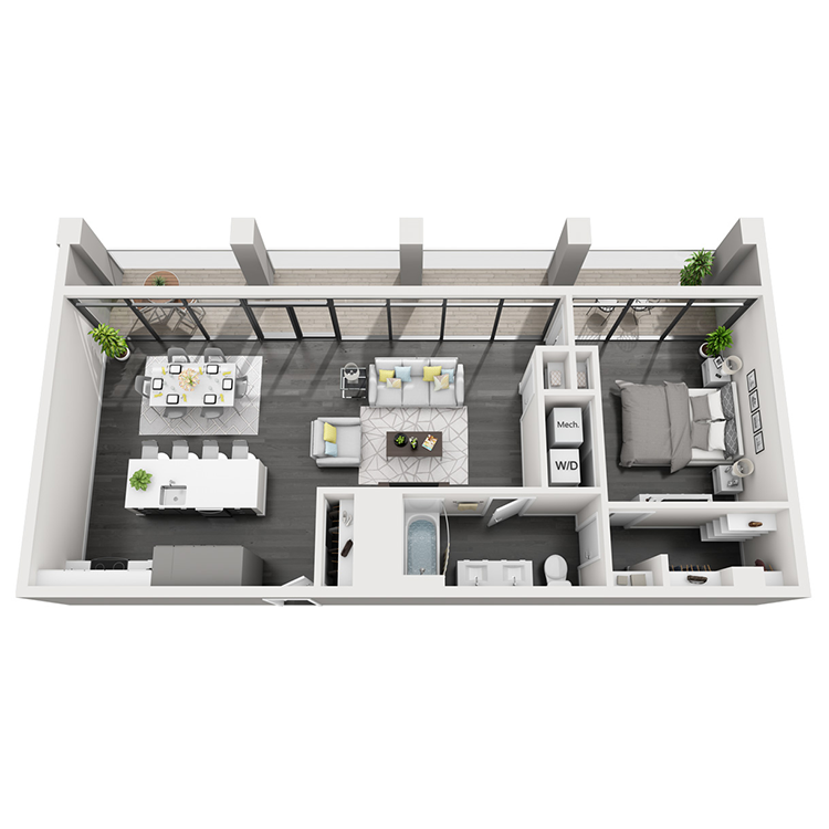 Floor plan image of 2T-North View