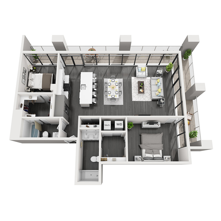 Floor plan image of 4T-Southeast View