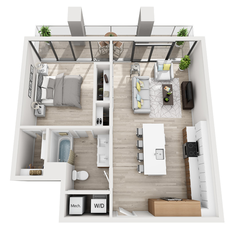 Floor plan image of 5T-South View