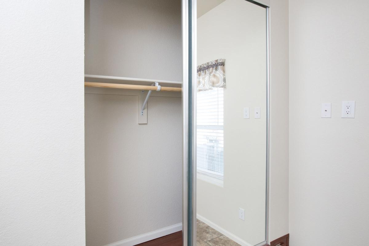 a glass shower door