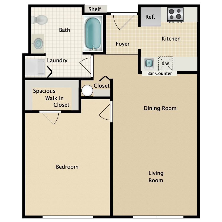 Floor plan image of Building 1-1A