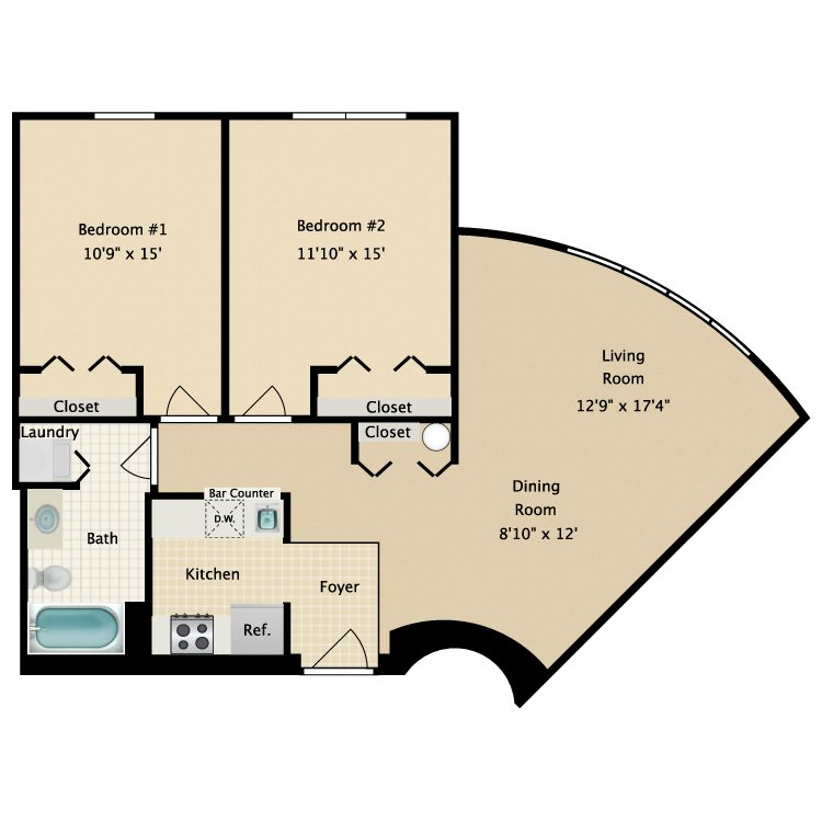 Floor plan image of Building 1-2A
