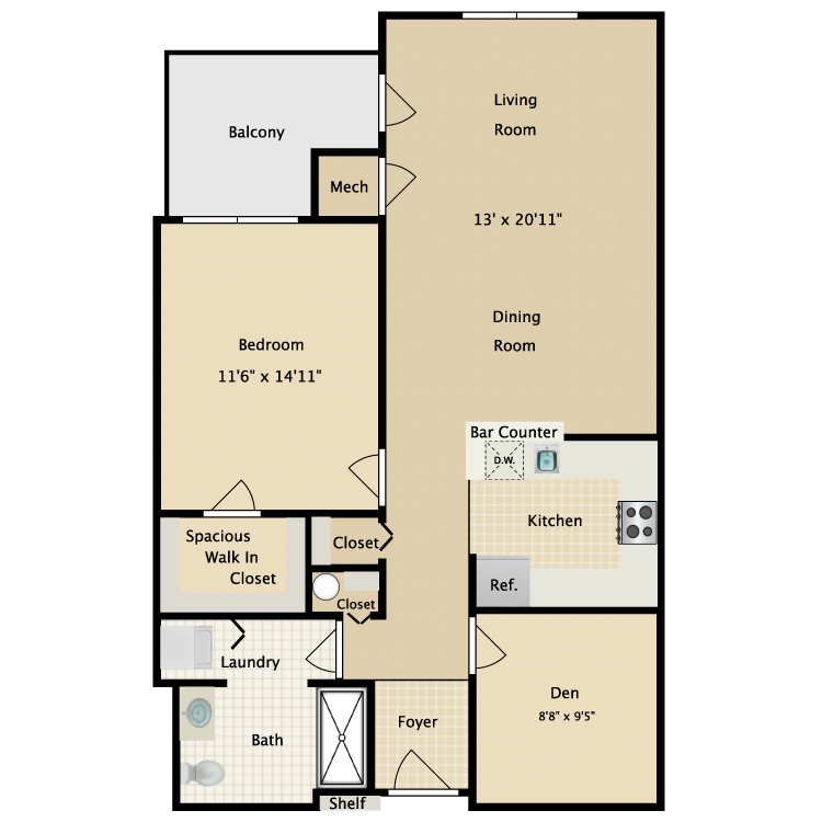 Floor plan image of Building 2-1A