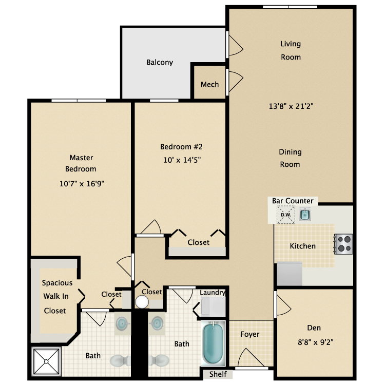 Floor plan image of Building 2-2A