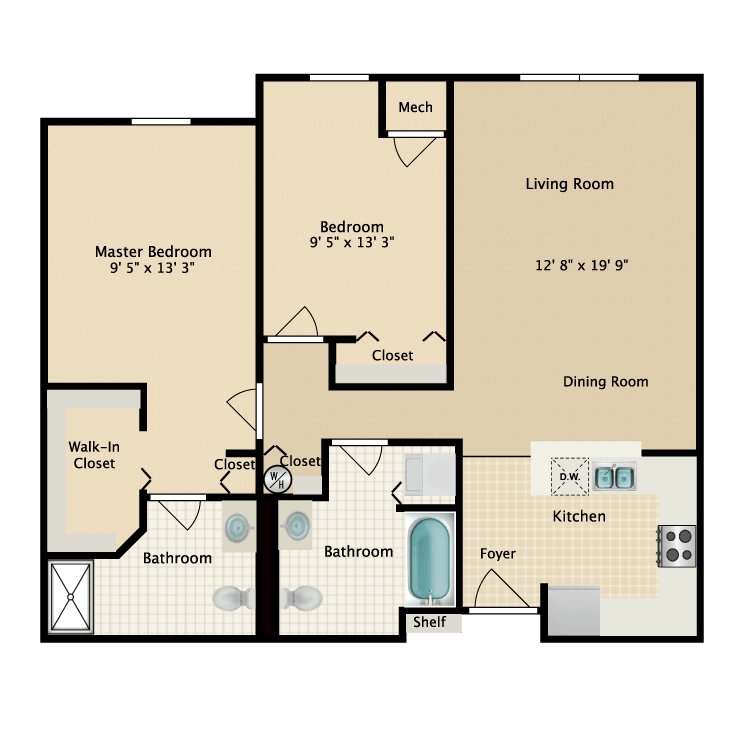 Floor plan image of Building 2-2E