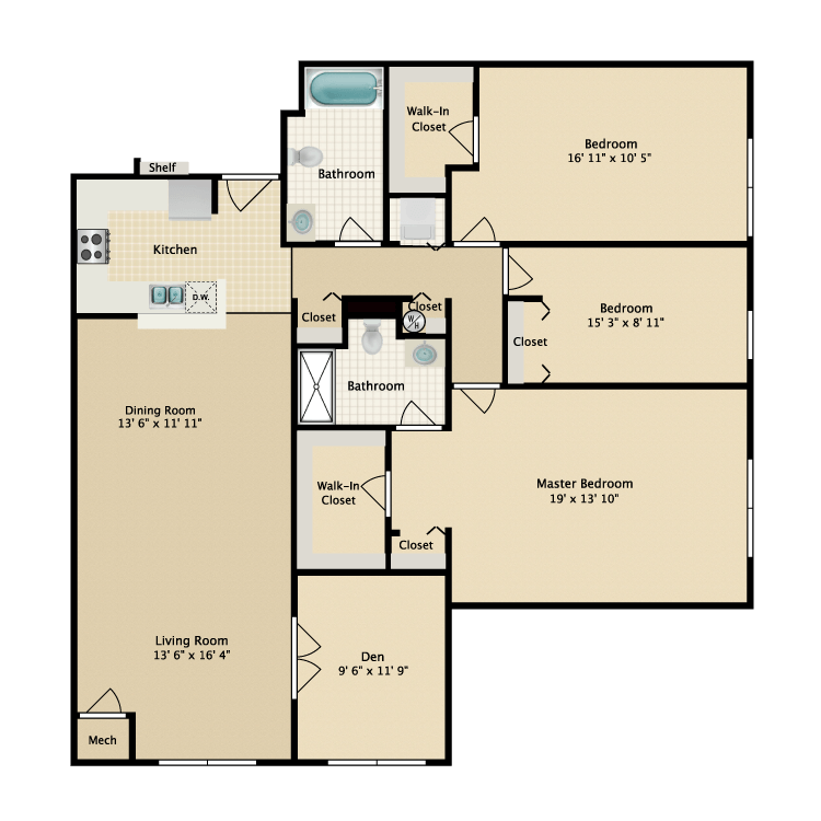 Floor plan image of Building 2-3A