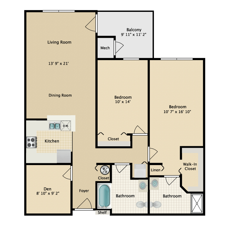 Floor plan image of Building 3-2A