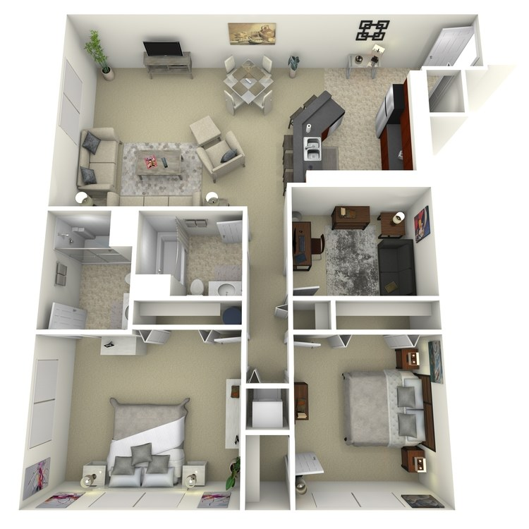 Floor plan image of Building 2-2C